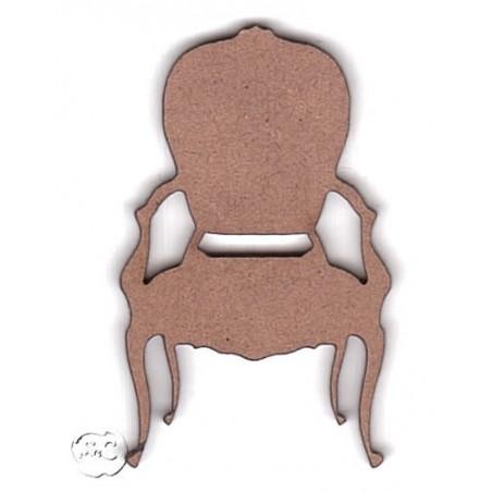 Silueta madera para scrap silla