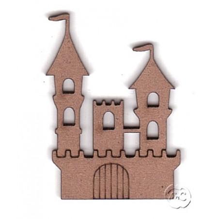 Silueta madera para scrap castillo