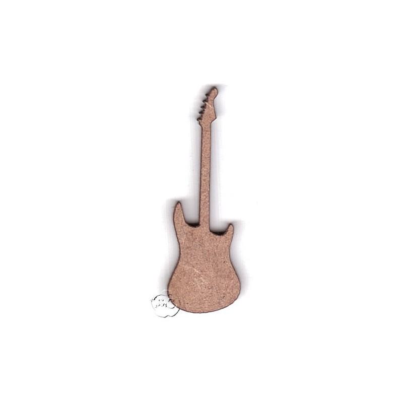Silueta Madera Para Scrap Guitarra Electrica