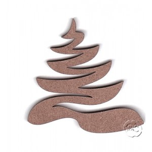 Silueta madera para scrap arbol de Navidad