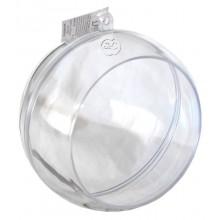 Bola transparente con agujero, 12 cm