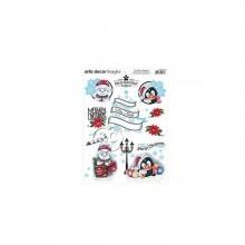 Papel transfer de navidad Pinguinos 28 X 22 cm Artis Decor