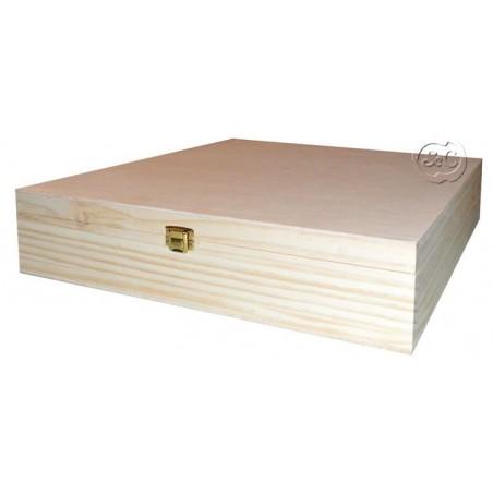 Caja de madera especial album 34 x 34 x 9