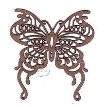 Silueta madera para scrap Mariposa filigrana 7