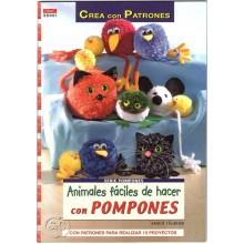 Libro Animales con pompones DRAC 55001