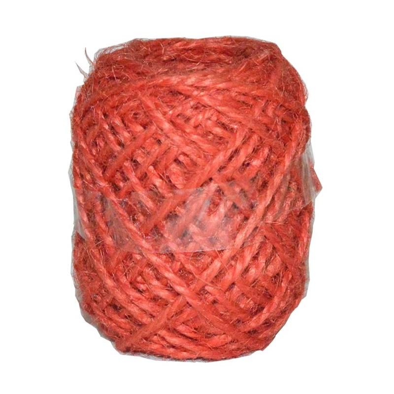 Cordon de lino rojo 10 m