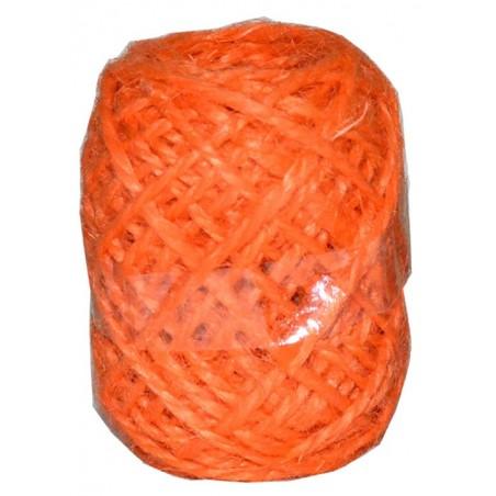 Cordon de lino naranja 10 m