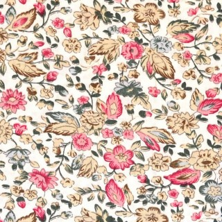 Tela patchwork Flores rosas algodon 100%
