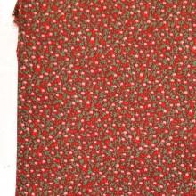Tela patchwork granate estampado mil  flores algodon 100%