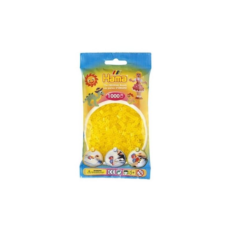 Hama Beads 1000 piezas Midi amarillo translucido