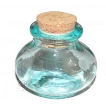 Bote vidrio con tapón de corcho Calabaza