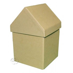 Caja carton craft casita