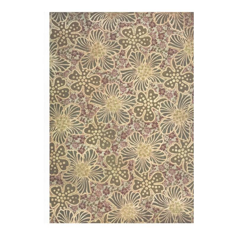 Coleccion Santoro Willow N4 A4 Flores verdes