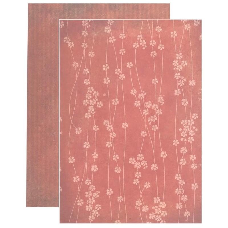 Coleccion Santoro Willow N12 A4 tiras de flores