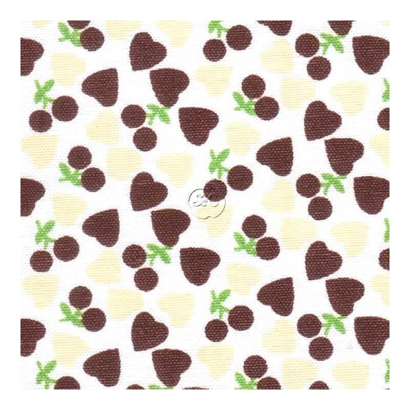 Tela adhesiva corazones marrones, 30 x 21 cm