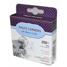 Esquinas adhesivas para fotos transparentes