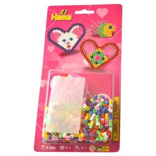 Blister Hamma Beads Figuras corazon