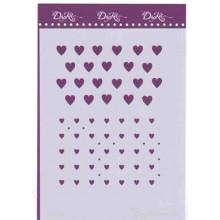 Plantilla Dayka corazones A5
