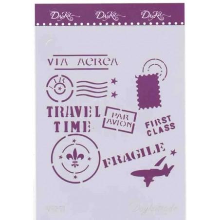 Plantilla Dayka sellos postales v 251