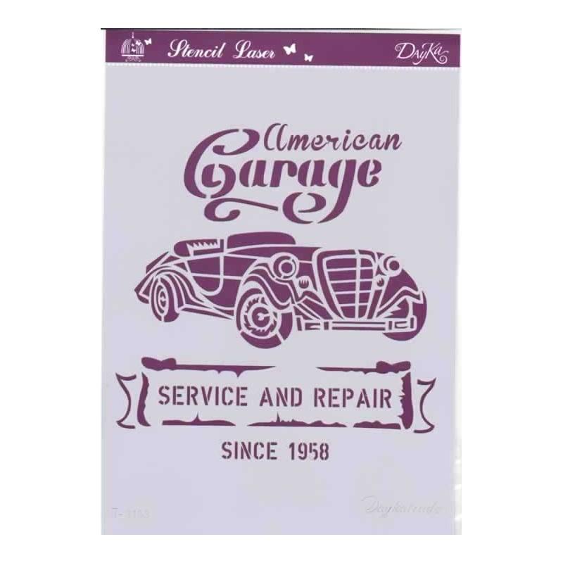 Plantilla para stencil American Garage T3153