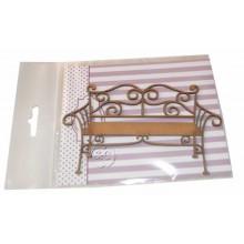 Siluetas carton banco de jardin Paris 13 cm