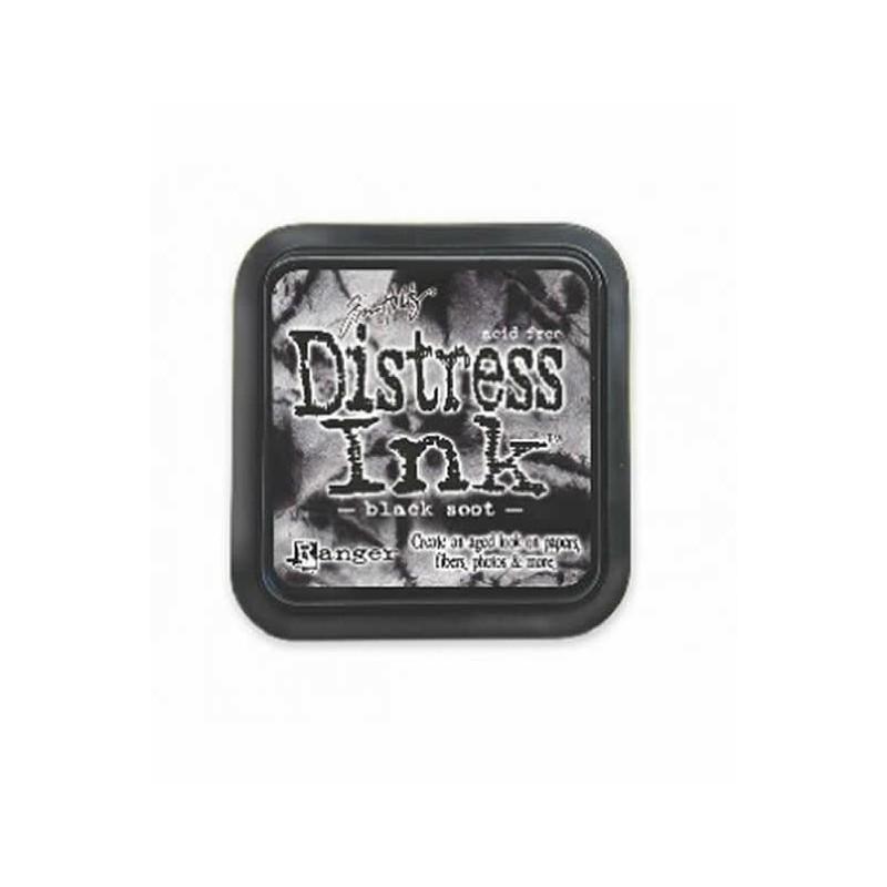 Almohadillas de tinta Distress Ink Negra efecto envejecido