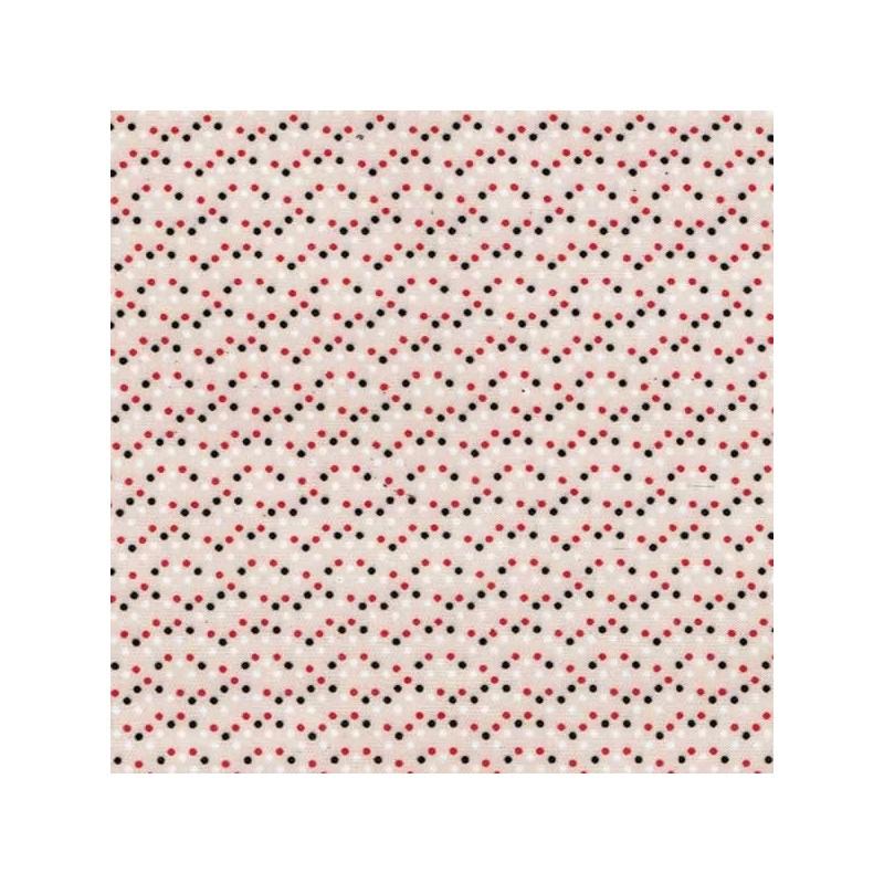 Tela adhesiva topos crema, 30 x 21 cm