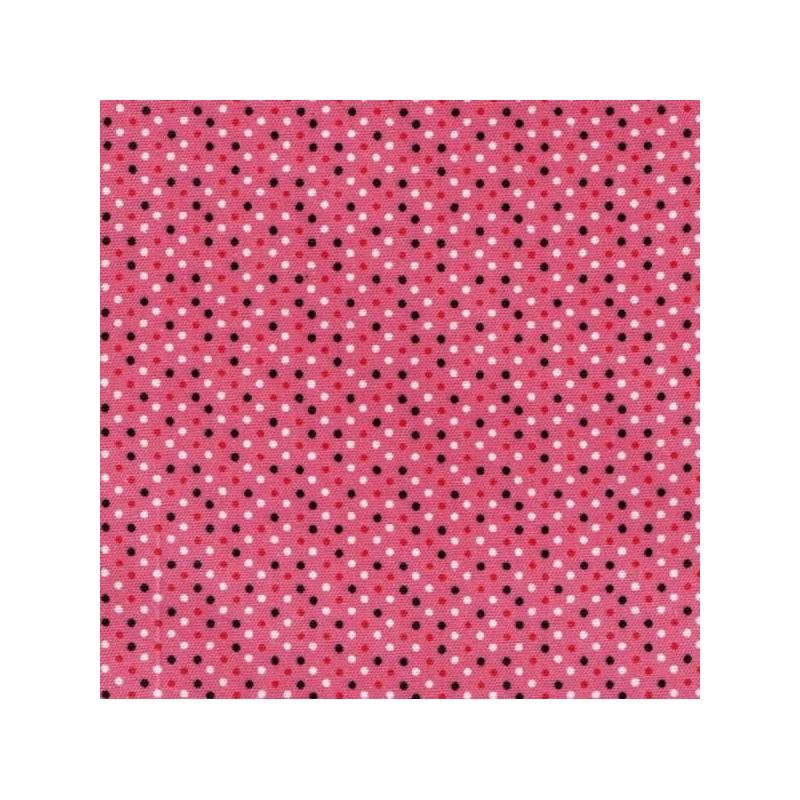 Tela adhesiva topos rojo, 30 x 21 cm