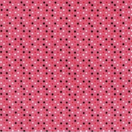 Tela adhesiva topos fucsia, 30 x 21 cm