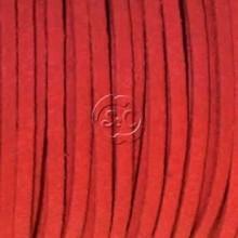 Cordon de antelina, rojo 5 metros