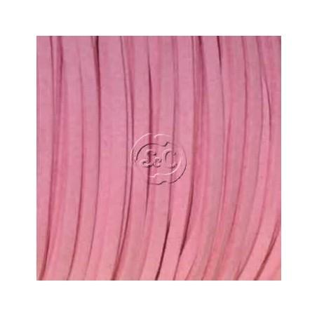 Cordon de antelina, rosa 5 metros