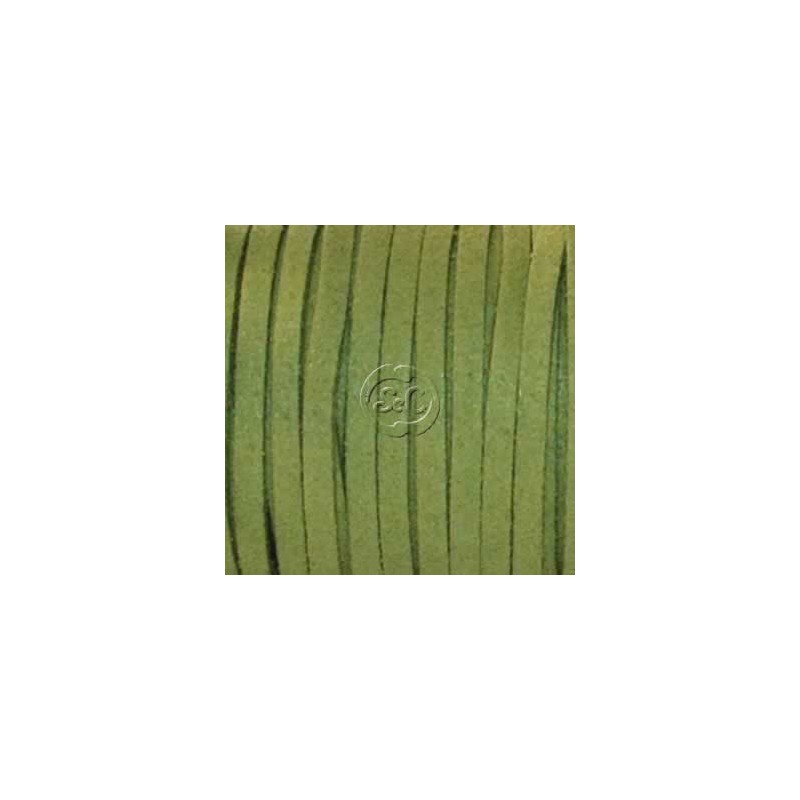 Cordon de antelina, verde 5 metros