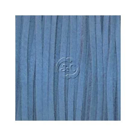 Cordon de antelina, azul 5 metros