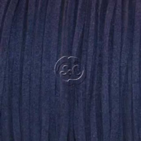 Cordon de antelina, azul marino 5 metros