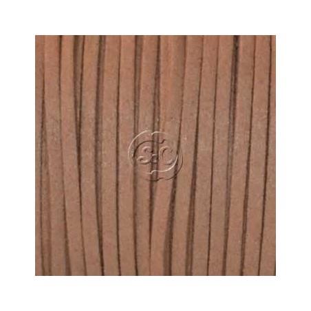 Cordon de antelina, marron claro 5 metros