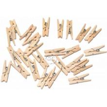 Pinzas de ropa minis madera 2,5 cm