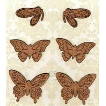 Mariposas de corcho 5 cm
