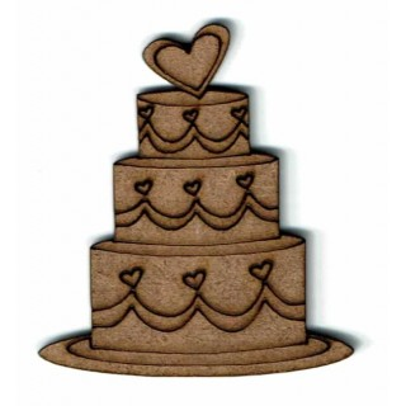 Silueta madera para scrap Pastel de boda
