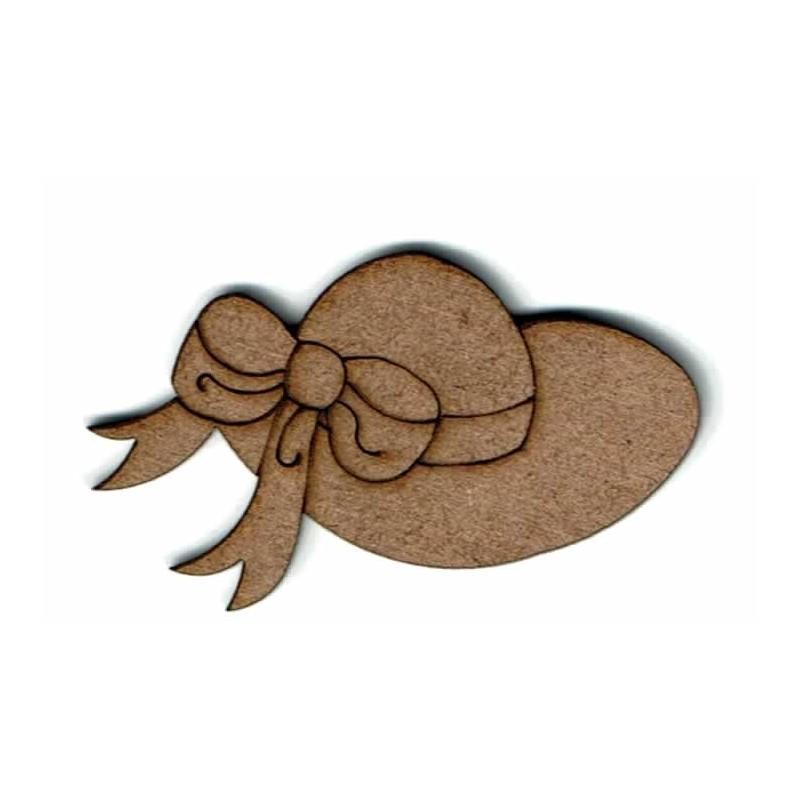 Silueta madera para scrap Sombrero de mujer