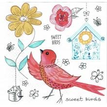 Servilleta decorada sweet birds