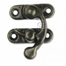 Cierre para caja gancho 27 x 36 mm bronce