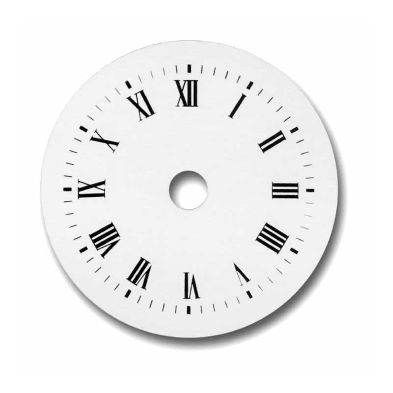 Esfera de reloj blanca numeros romanos 10 cm