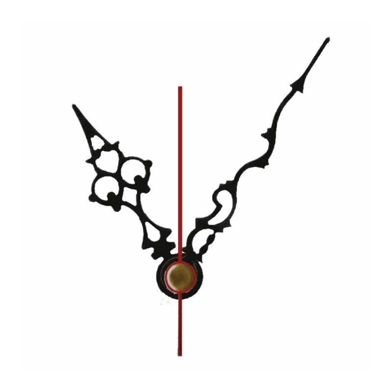 Juego Agujas reloj Filigrana negra metal para maquinaria 31 mm