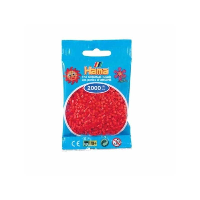 Hama Beads 1000 piezas Mini Rojo