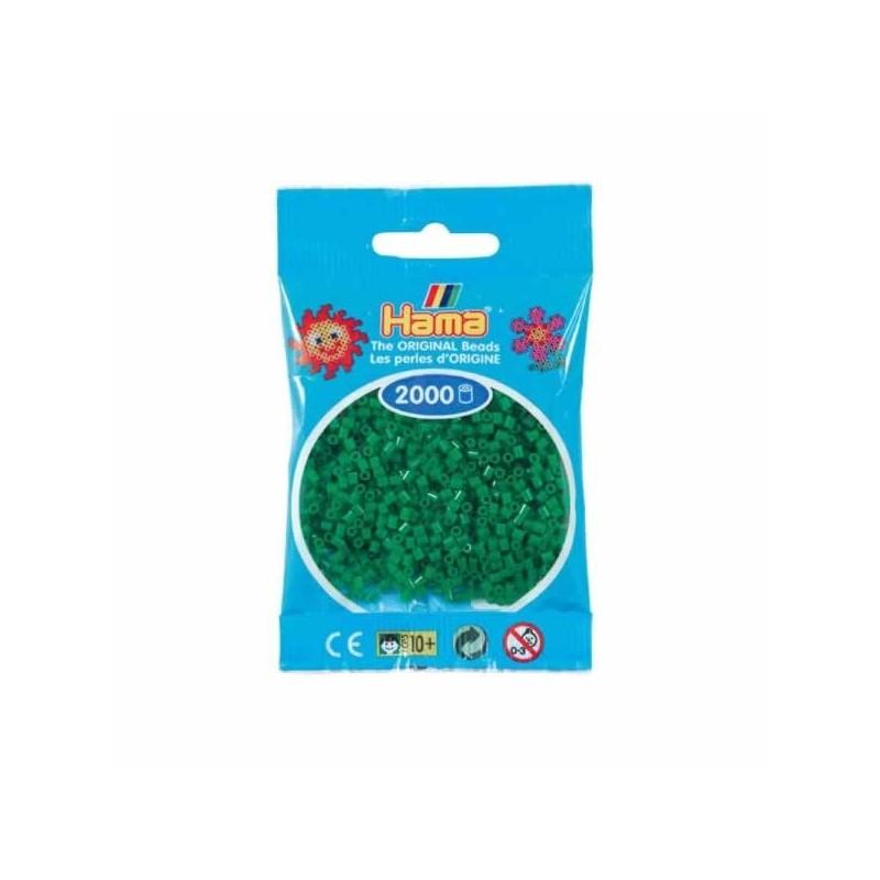 Hama Beads 1000 piezas Mini Verde