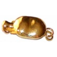 Cierre dorado de pletina para pulsera o colgante