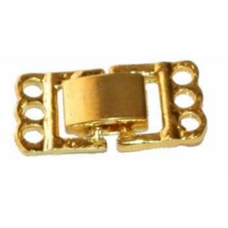 Broche 3 hilos de color oro liso
