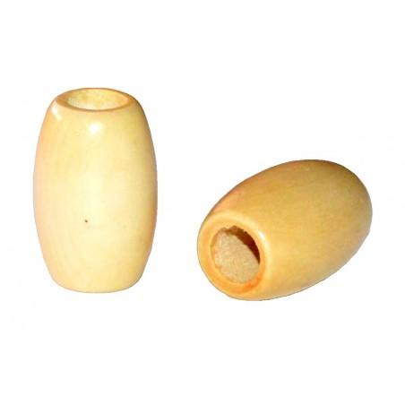 Bolas de madera ovaladas 3 x 2 cm