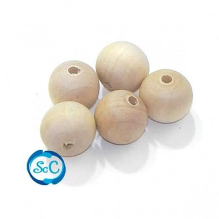Bolas de madera pulida de 1 cm 30 unidades