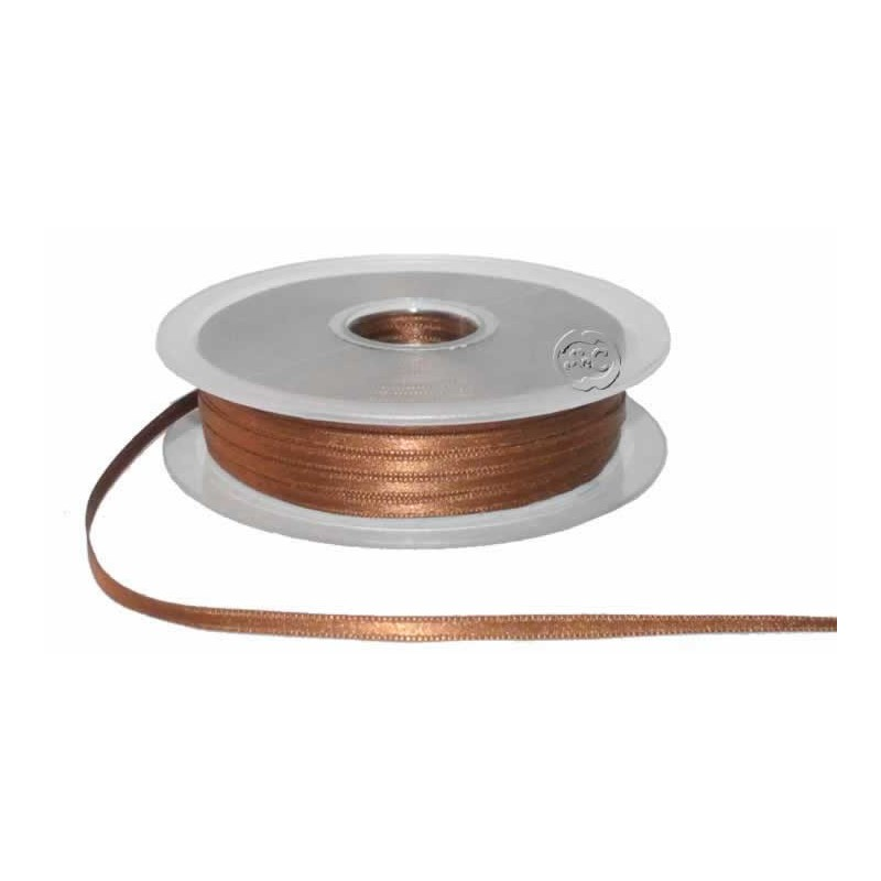 Cinta para bordado marron 3 mm 1 metro